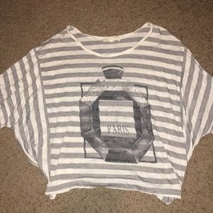Forever 21 grey striped crop top 💋